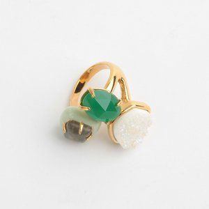 Alexis Bittar Green Stone Open Ring